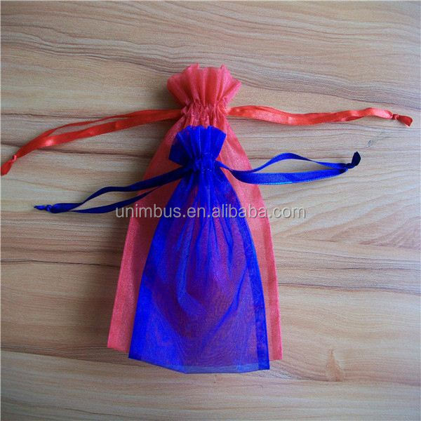 2015 china supplier new design mini hanging storage bag travel hanging jewelry organza bag