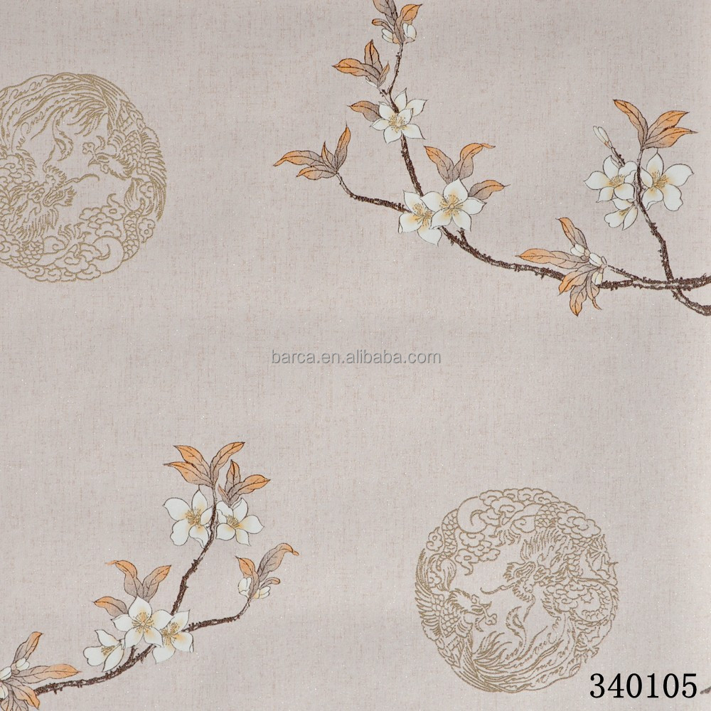 oriental style 3d nonwoven wall paper