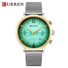 Мужские кварцевые часы CURREN Reloj Hombre, спортивные водонепроницаемые часы с секундомером, армейские часы(Китай)