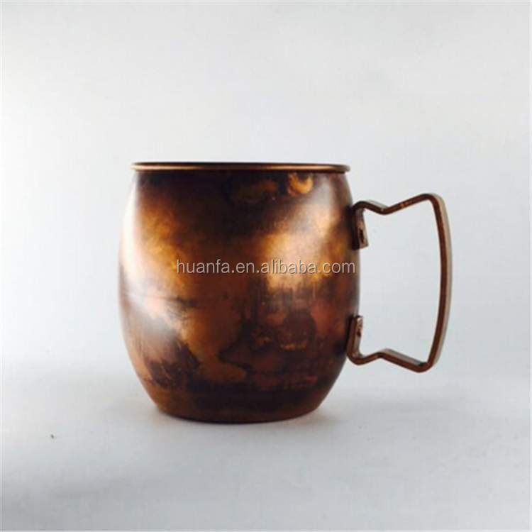 Age of Discovery Europe Retro Style 16OZ 100% Red Copper Moscow Mule Mug/Solid Mug/Travel Mug