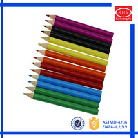 Educational stationery school use 3.5 inch mini color pencil
