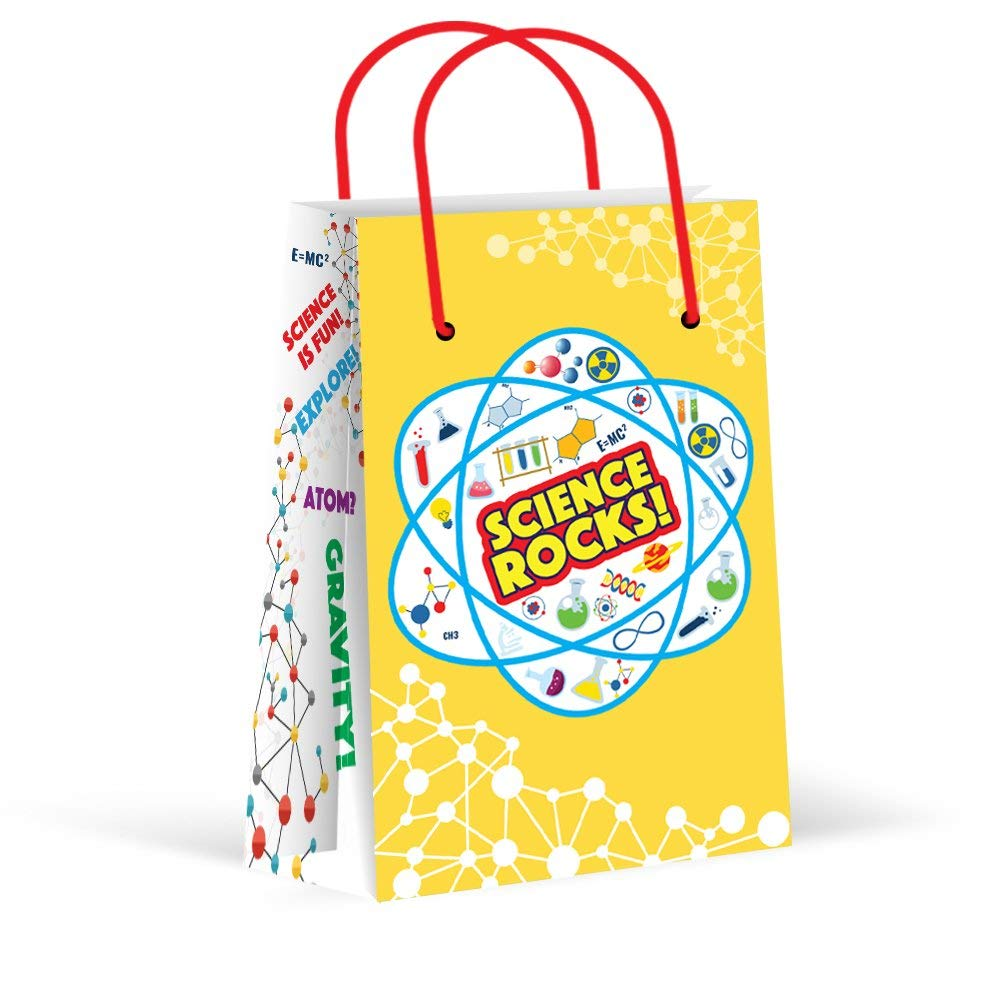 Premium Science Party Bags, Party Favor Bags, New, Treat Bags, Gift Bags,Goody Bags, Science Party Favors, Science Party Supplies, Decorations, School, 12 Pack