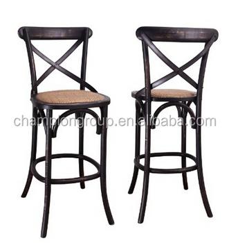 Super Elm Wood Rattan Antique Barstool Dining Chair Cross Back Bar Chair Mx 1601B Buy Cross Back Stool Cane Seat Wooden Bar Stool Chair Cross Back Bar Bralicious Painted Fabric Chair Ideas Braliciousco