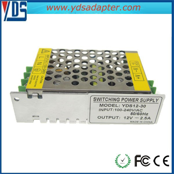 High Quality Input Voltage AC 100-240V Worldwide 12V 2.5A 30W Switch Mode Power Supply