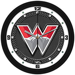 New - Western State Colorado University Mountaineers-Carbon Fiber Textured Wall Clock