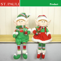 2017 new arrivals holiday table decoration christmas stuffed elves for custom