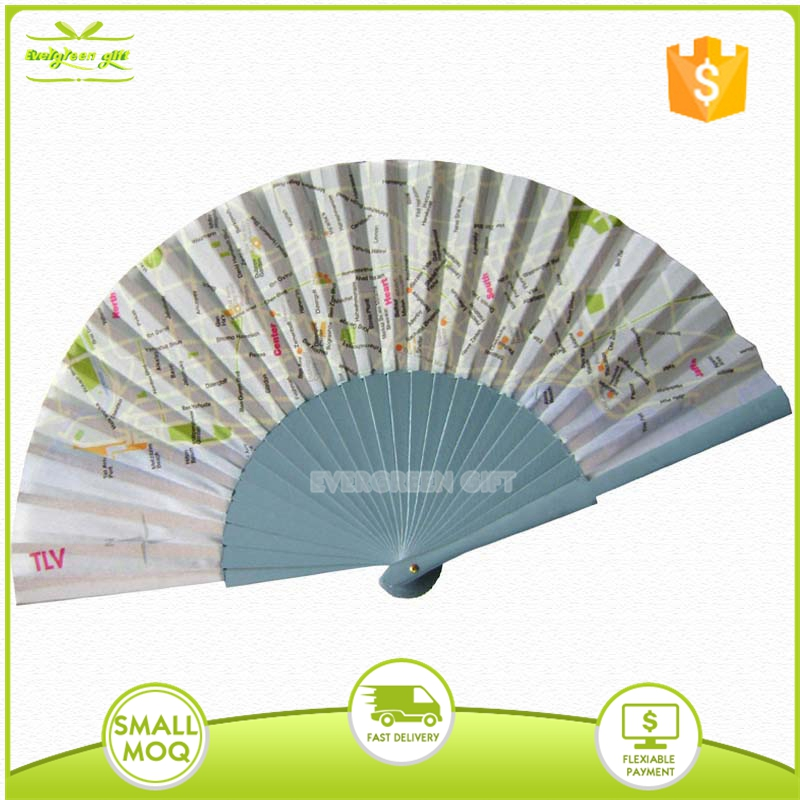 advertising custom printed wooden craft folding hand fan