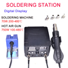 2 in1 SMD Hot Air Rework Soldering Iron Station+ Repair Tools 5 Nozzles LED Display As Free Gifts