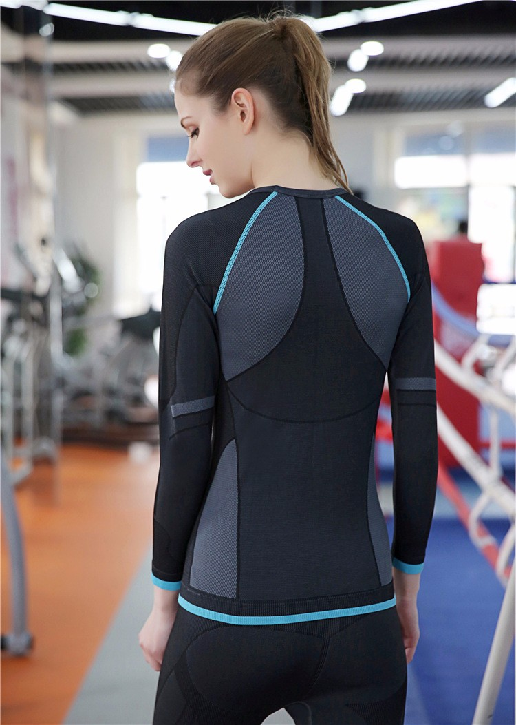 Newest Listing Fitness Women Training Gym Wear Sport Wear Polyester Long Sleeve Sport Shirts 5