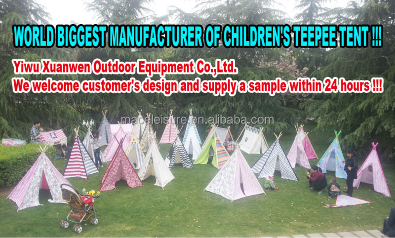 100% cotton canvas indian kids pop up teepee tent / kids play house & 100% Cotton Canvas Indian Kids Pop Up Teepee Tent / Kids Play ...
