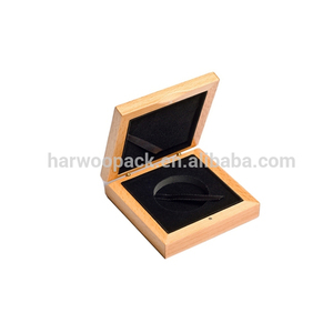 Good quality and nature color Oak wood box for coin