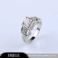 925 Silver Ring Plated Platinum/18k Gold/Rose Gold Wholesale 925 Sterling Silver Rings