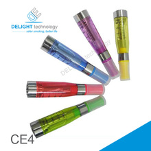 Supreme e cigarette 2014, colorful ego electronic cigarette wholesale with refillable ce4 clearomizer