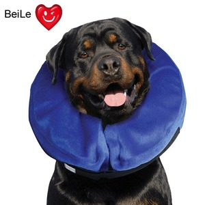 Hot inflatable pet neck pillows dog collar flocking pet dog collar and Nylon air pillow for dogs for sale