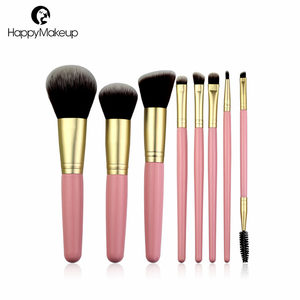 8pcs Lovely pink cosmetic makeup brushes pink handle makeup brushes no name makeup