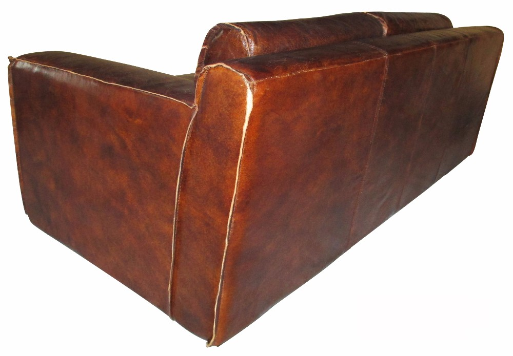 Classic brown old lantique leather couches sofa for sale for Tan couches for sale