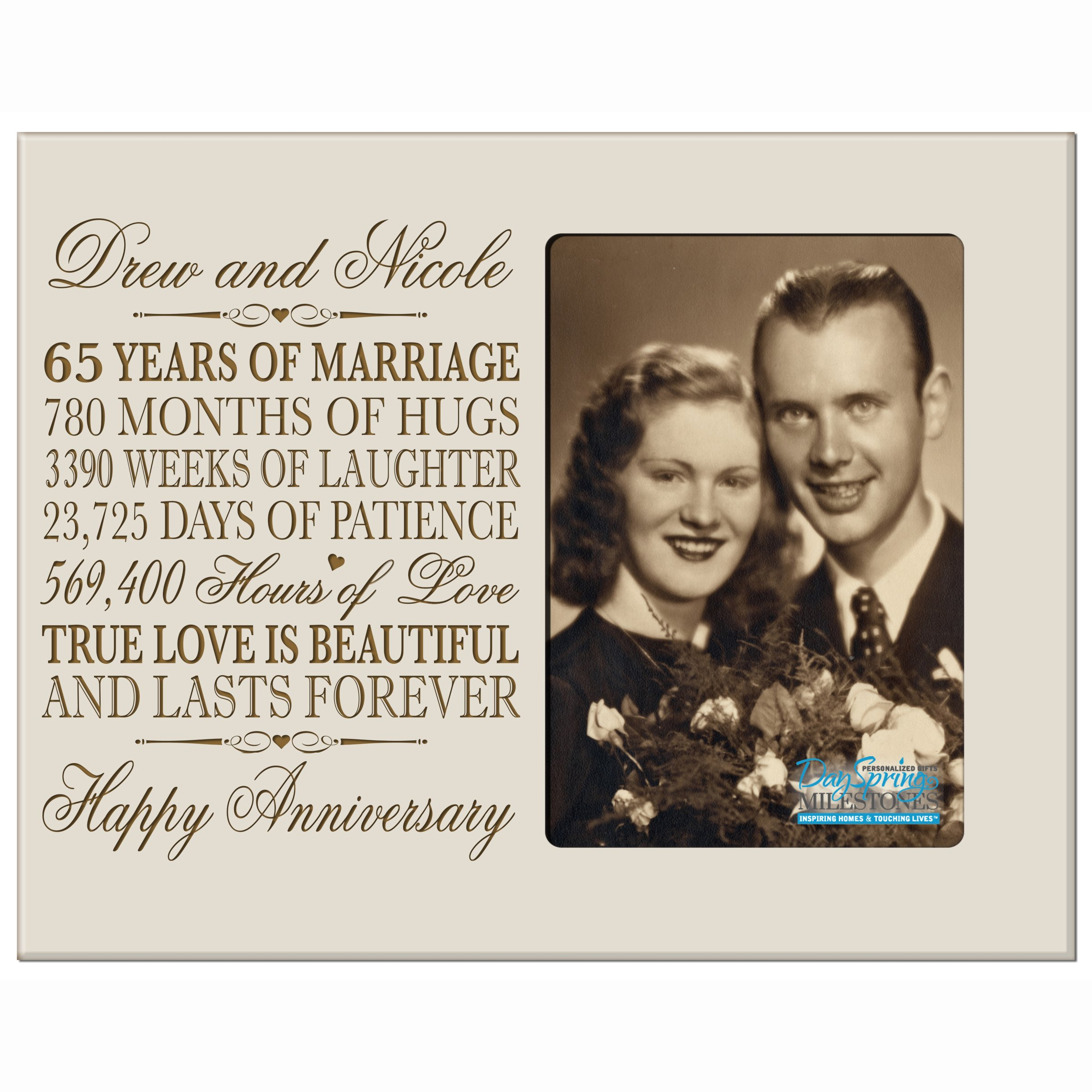 Gifts For 65th Wedding Anniversary: Buy Personalized 65th Blue Sapphire Wedding Anniversary
