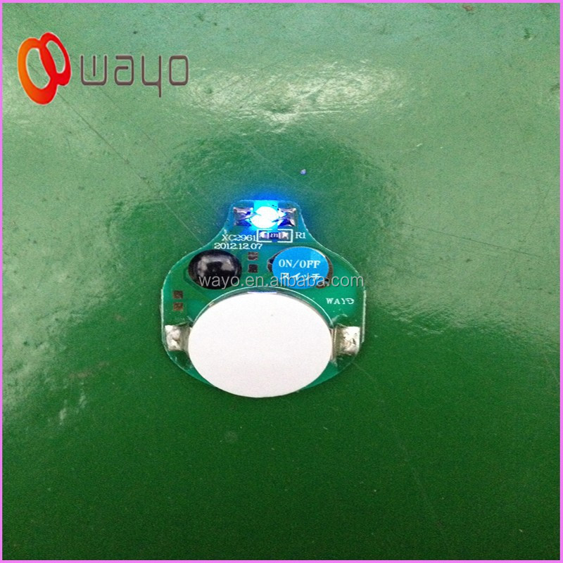 Single Blue Color Point Of Purchase Display Lighting Battery Ed Blinking Led Lights