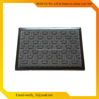 Anti-slip and durable rubber printed logo branded entrance door mat