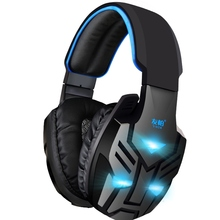 TWFM Y028 Subwoofer Big Gaming Glowing Headphones with Microphone for PC Computer Headset Stereo Universal Wired Earpiece Game
