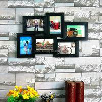 6P photo frame collage for picture and photo - wall decor economic material