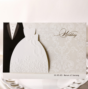 Romantic bride&groom muslim wedding invitation card For Wedding supplies