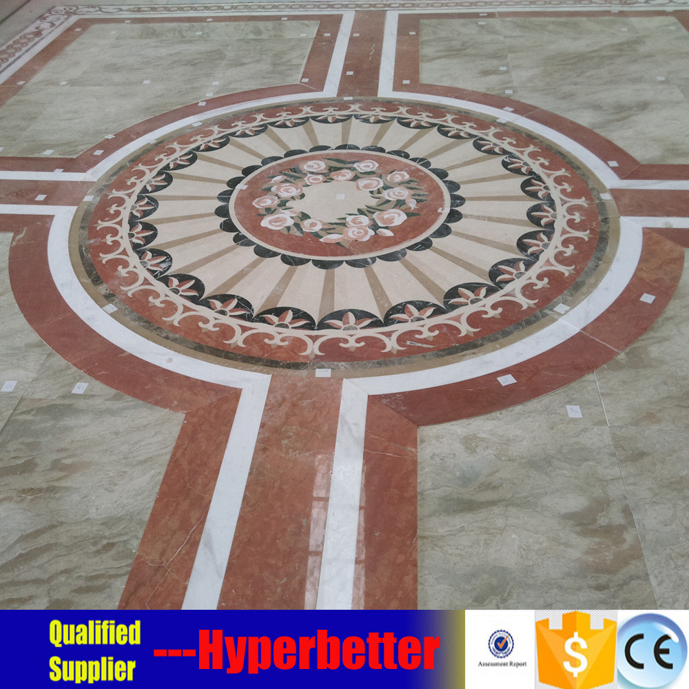 Circle marble medallion waterjet