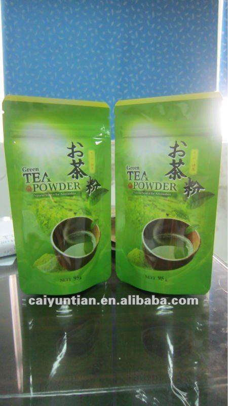 Green Tea Bag/aluminum Foi Ziplock Tea Bag/zipper Stand Up Green ...