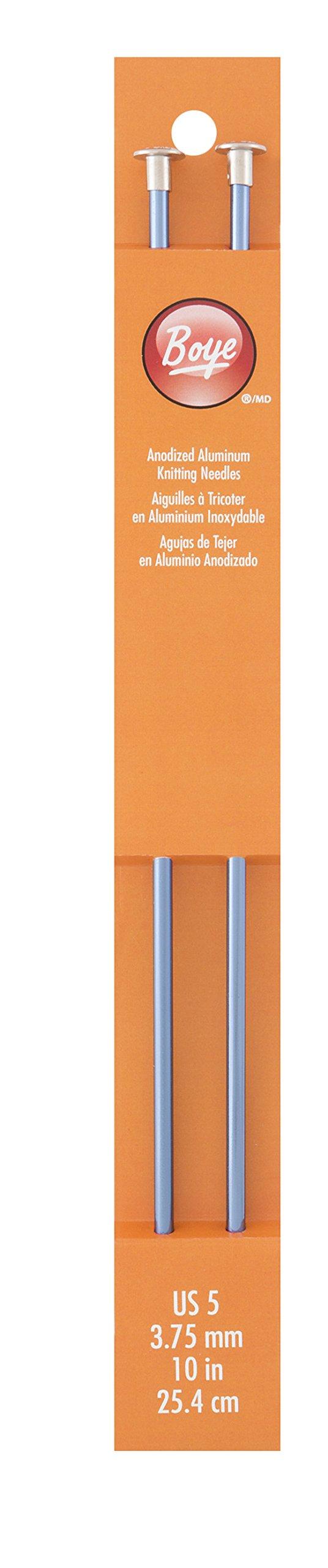 """Boye Single Point Aluminum Knitting Needles 10/""""-size 5//3.75mm"""