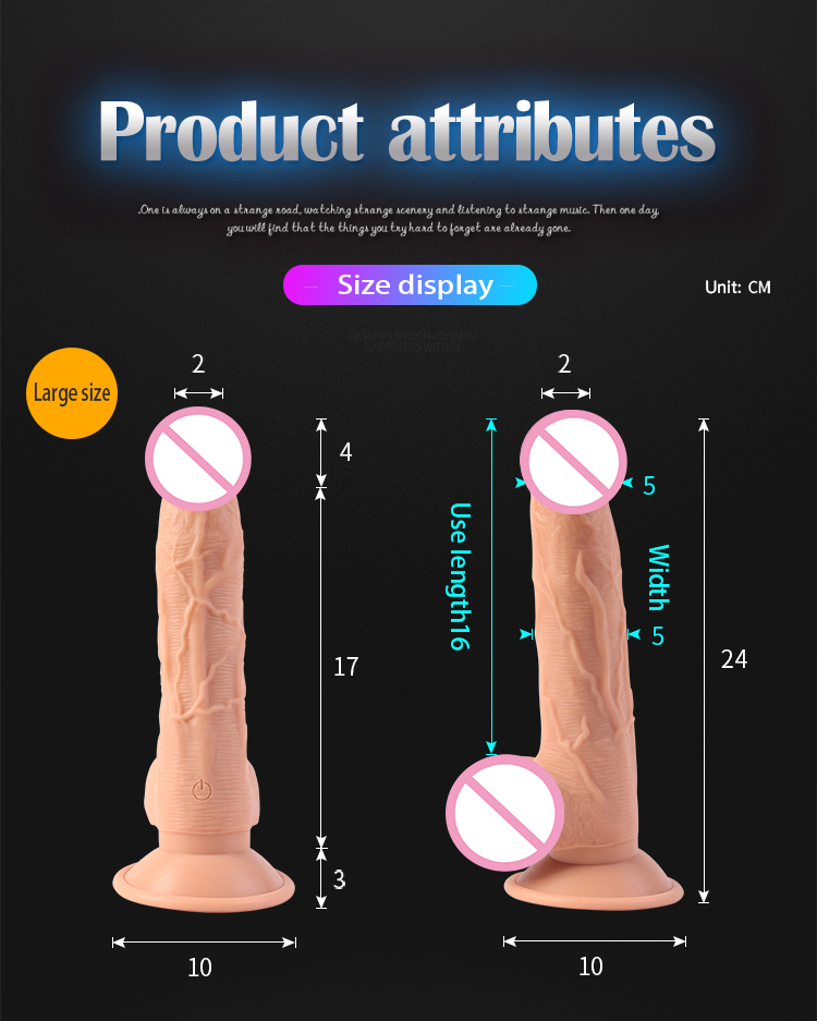 Electric Machine Automatic Penis Massager Soft flexible Automatic Dildo