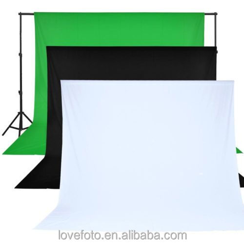 3x6m 10x20ft green screen background Chromakey 100% Muslin Cotton Backdrop Green White Black Blue Grey Background Screen
