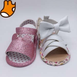 beautiful Spring shining girls shoes sandals baby shoes with bowknot