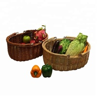 YRMT Wholesale wicker fruit baskets vegetable basket with handle