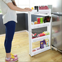 DIY Kitchen Storage Shelves / Household Rack Holder / plastic kitchen shelf