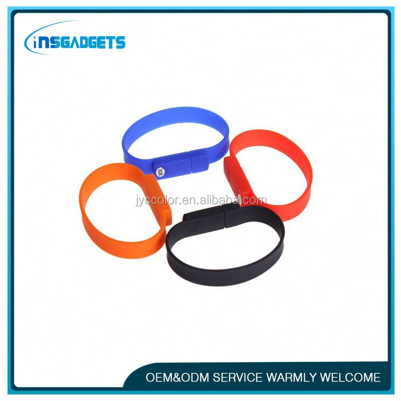 silicon pendrive usb flash drive , silicone rubber wristband bracelet with holes , wristband silicon usb memory stick