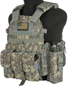 Military Airsoft Tactical Vest with Magazine & Radio Pouches Accessories