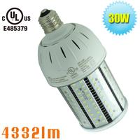 30W LED bulb Retrofit Street lamp cobra head fixture in parking lot,car park,car port pole lights