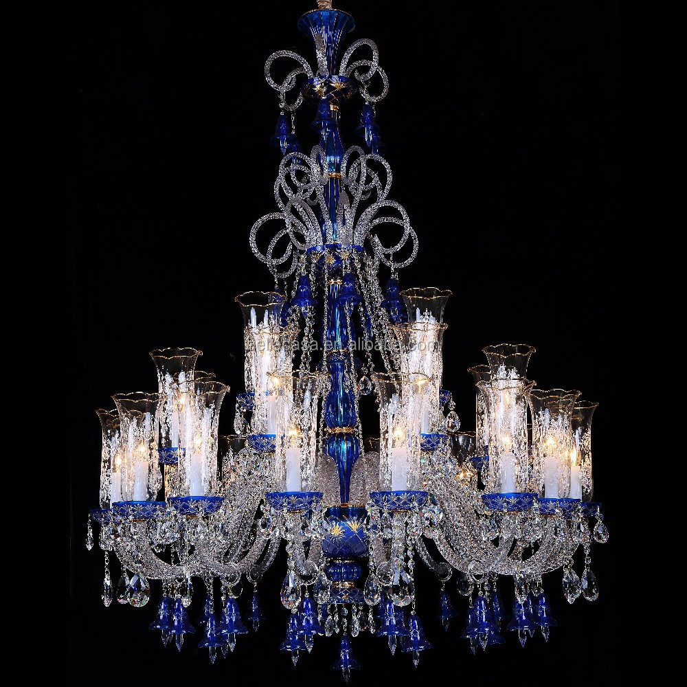 New Luxurious K9 Crystal Hanging Glass Balls Chandelier Blue ...