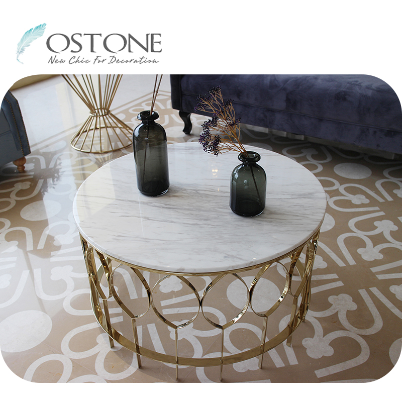 Super Fancy Round Volakas Marble Top Modern Natural Stone White Coffee Table Buy Stone Coffee Table Natural Stone Coffee Table Modern Stone Coffee Table Ncnpc Chair Design For Home Ncnpcorg