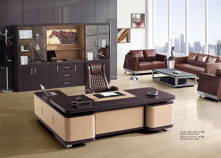 F 62 economic office table l type modern office table - Protector escritorio ikea ...