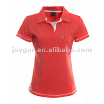 Cool Dry New Design Simple Red Girl Polo T-shirt - Buy Girl Polo T ...