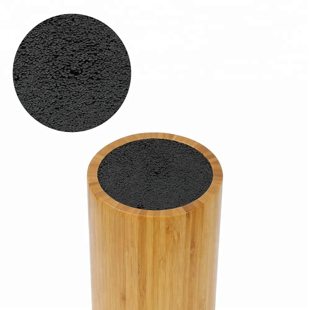 Экологичный круглый держатель для ножей бамбуковый блок для ножей