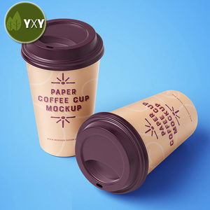 Bio Customized Design Kraft Paper Tea Cup For Tea Shop Use