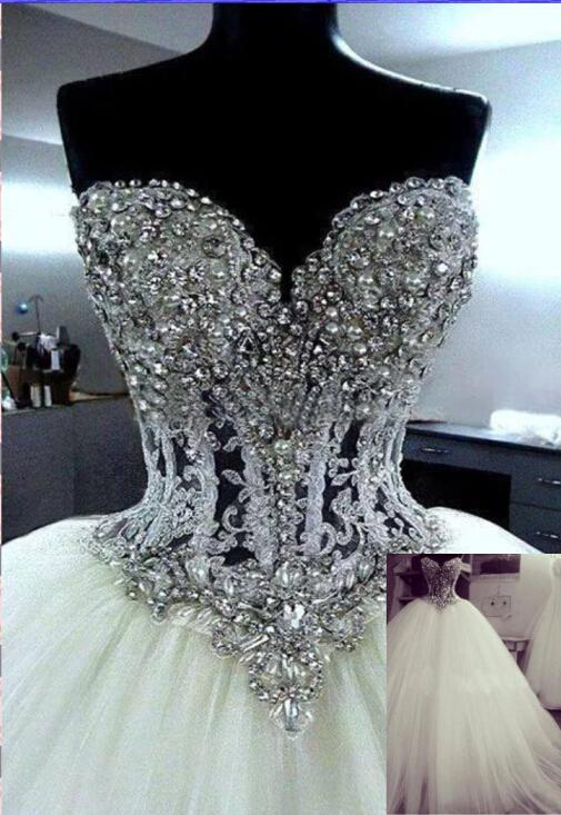 diamond top wedding dress - photo #25
