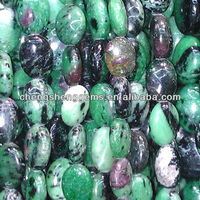 12*16mm natural oval smooth ruby fuchsite A grade loose gemstone beads for sale