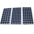 Hot Selling wholesale 128 cells black vegetable plant nursery plastic gardening seedlings trays