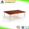 (SP-GT325) Rectangular long wooden stainless steel dining table designs