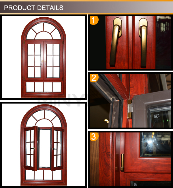 China supplier new design casement window aluminum french for Best price wood windows