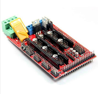 2017 Control Board Panel Part RAMPS 1.4 3D Scanner Board Kit RAMPS 1.4 Board Red For 2560 for 3D printer kit