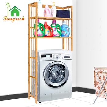 Charmant 4 Tier Bamboo Washing Machine Storage Rack Shelf Rack Shelf For Washing  Machine